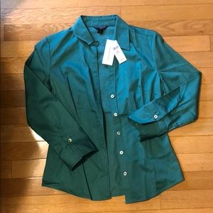 BananaRepublic Dark Turquoise Collared Button Down